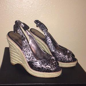 NINE WEST wedge sandals  Sz:) 4 1/2 med.